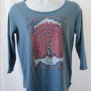 Tops - Lucky Brand Peacock Tee Shirt Sz XL CUTE!